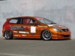 シビックEP3タイプRレーシングカーフルラッピングJDM