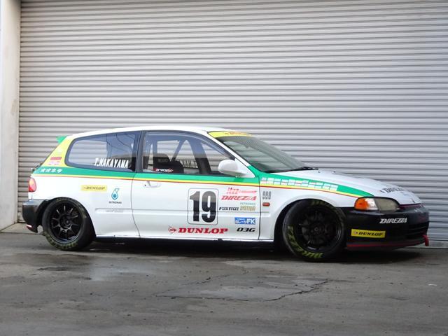 ホンダ SiRII もてぎチャンピオンカップレースN1レースカー もてチャン 鈴鹿クラブマン JAF戦即参戦OK 無限車高調 LSD ダッシュ貫通9Pロールバー SSRタイプF15インチ7J+35