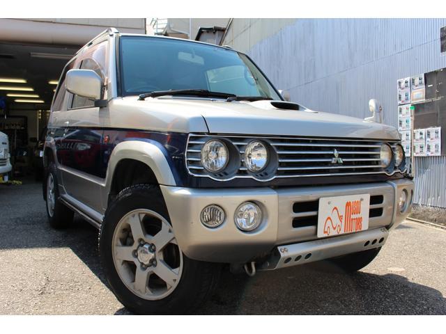 三菱 パジェロミニ リンクスV 4WD ターボ ナビ TV タイヤ新品 オートマ