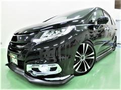 オデッセイアブソルートEX新エアロ新19アルミ新テイン車高調リアモニタ