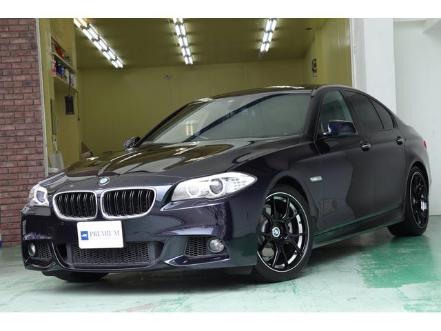 BMW 5シリーズ 523i Mスポーツパッケージ アンドロイドモニター SSR 19インチAW REMUSマフラー ビルシュタインショック サンルーフ フルセグTV 革シート シートヒーター クルーズコントロール バックカメラ HIDヘッド