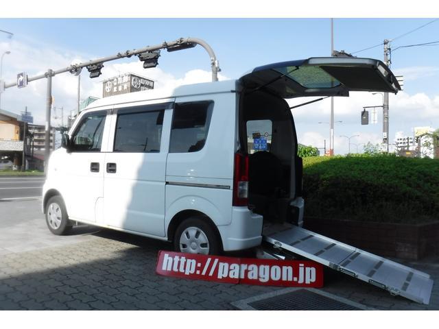 スズキ スローパー補助シート付 後部電動固定 車いす乗員用手すり付