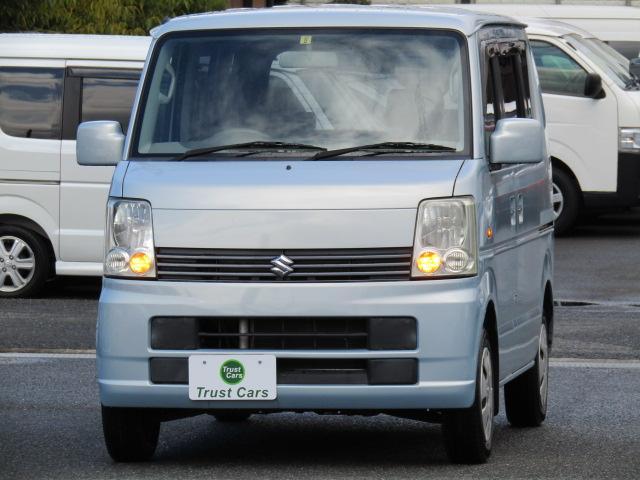 スズキ エブリイワゴン JP 禁煙車/タイミングチェーンエンジン/CD/Wエアバッグ/両側スライドドア/フルフラットシート/電動格納ミラー/キーレス/エアコン/ABS/