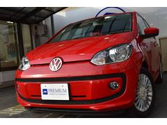 VW アップ!ハイ アップ!1オナ 禁煙 ポータブルナビ ワンセグ D記録