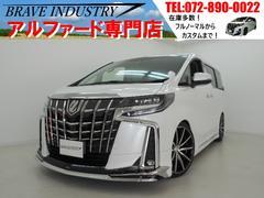 アルファード2.5S新車7人 モデリスタエアロ 車高調 20AW両電スラ
