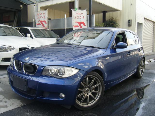 BMW 1シリーズ 130i Mスポーツ プロドライブ18インチアルミ 社外マフラー 革シート シートヒーター付き