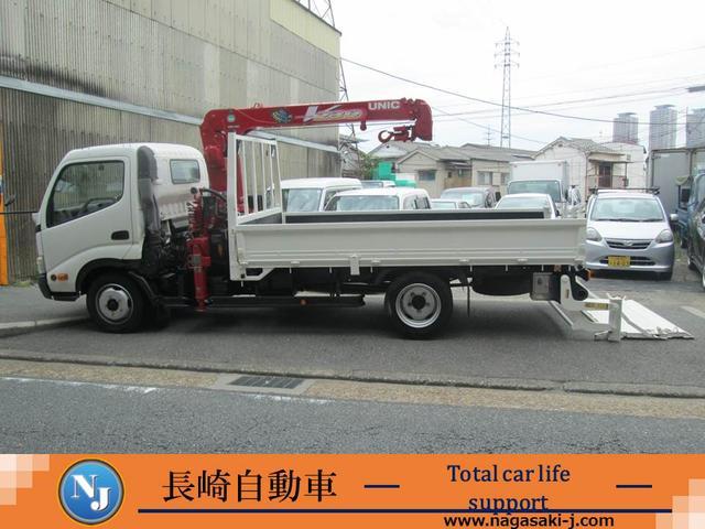 トヨタ ワイド積載2トン 3段ユニック クレーン パワーゲート