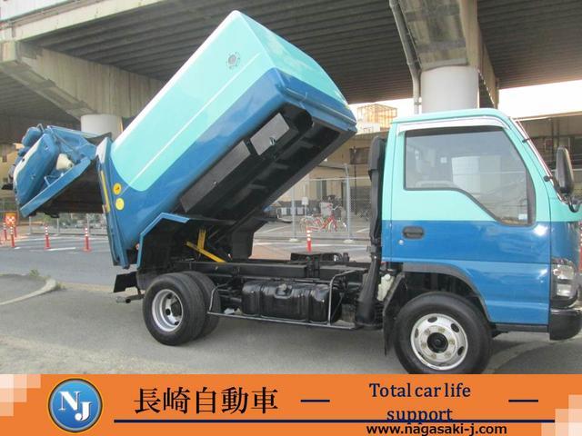 いすゞ エルフトラック パッカー車 フジマイティ回転ダンプ式6.7立米 積載3.1t