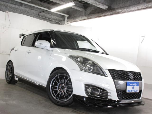 スズキ ベースグレード 6MT・イデアル車高調・トラストマフラー・トラストリップ・社外リアウイング・16インチアルミホイール・フルセグTV・ストラーダナビ・クルーズコントロール・スマートキー・HID