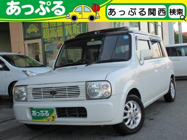 スズキ キャンバストップ 社外ポータブルナビ 純正CD/MDデッキ