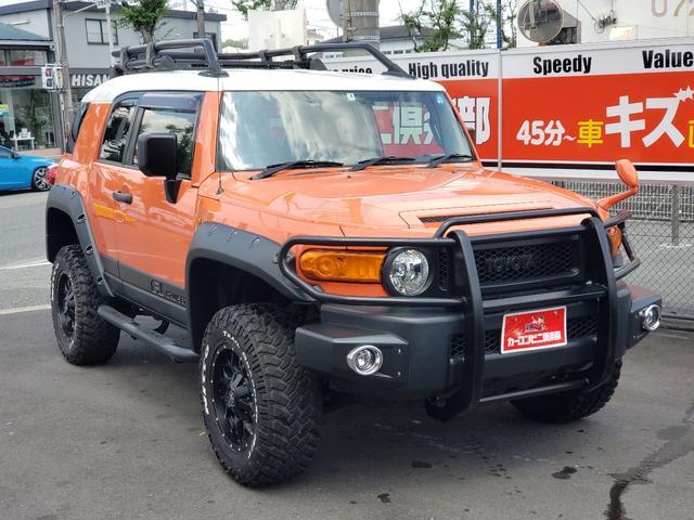 トヨタ FJクルーザー 4WD ワイドフェンダー公認 社外グリルガード リフトアップ