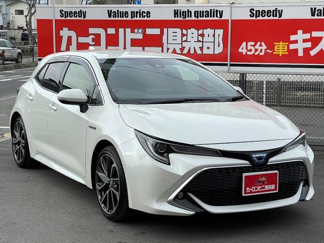 トヨタ ハイブリッドG Z 新車保証 走行1.7万キロ台 トヨタセーフティセンス 純正ディスプレイオーディオ&ナビ バックモニター ステアリングヒーター 純正18インチアルミ