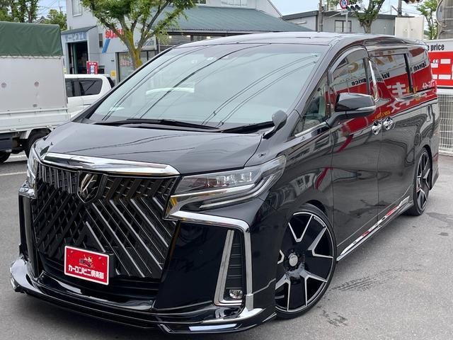 トヨタ 2.5S 新車保証 WALDコンプリート HKS車高調 ドゥシャトレ22インチ 9インチアルパインナビTV バックカメラ セーフティセンス 両側パワースライドドア 202ブラック