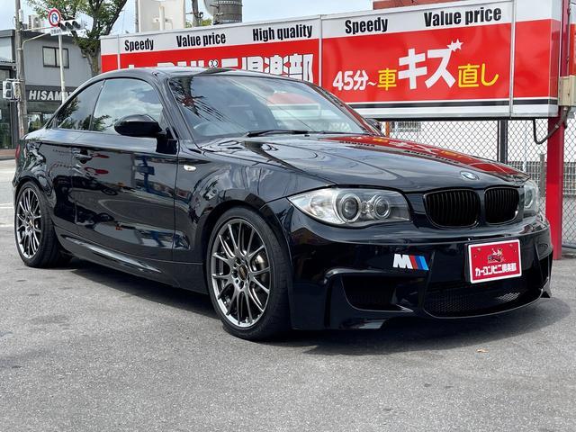 BMW 1シリーズ 135i Mスポーツ 6速MT 直6 3リッターツインターボ 306馬力 BBS18インチアルミ end.cc 1M Coupe-Line フロントバンパー 黒革シート パワーシート シートヒーター