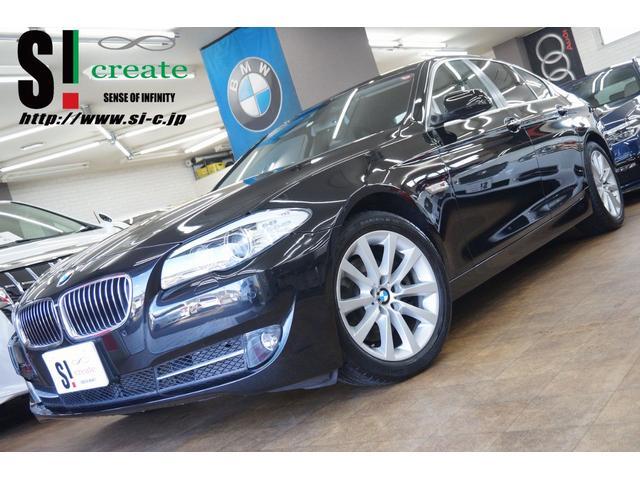 BMW 528i 純正ナビ フルセグTV バックカメラ ブラックレザーシート コンフォートアクセス シートヒーター キセノンヘッドライト ETC AUX スマートキー