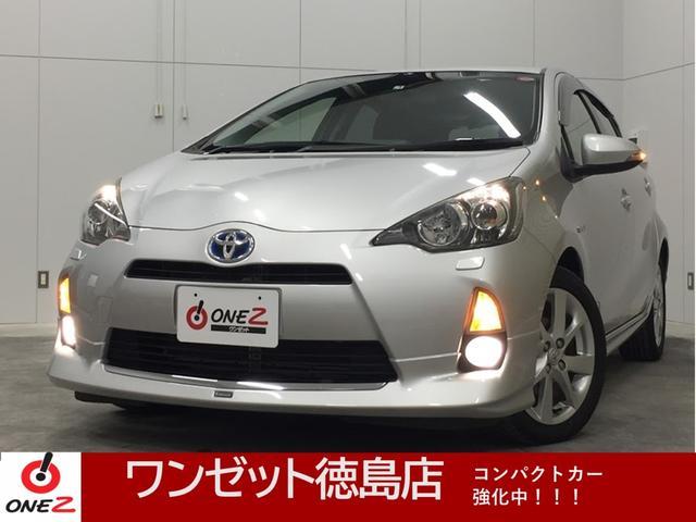 トヨタ アクア S モデリスタエアロ 純正アルミ LEDヘットライト ナビ