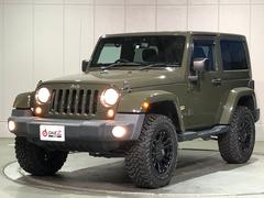 ジープ・ラングラーサハラ 4WD リフトアップ 外アルミ 外マフラー ナビ