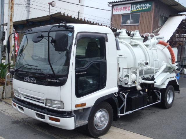 いすゞ フォワード ベッドレス2.73t吸引車 積載容量3000L 東急製