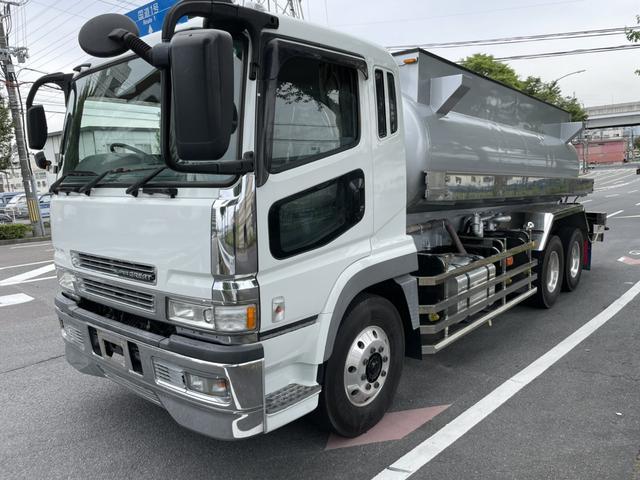 三菱ふそう スーパーグレート 10.2t清掃車 バキュームカー汚水吸引車 東急製VL12 タンク内側テフロン加工 積載品食品廃液 KL-FU50JNY