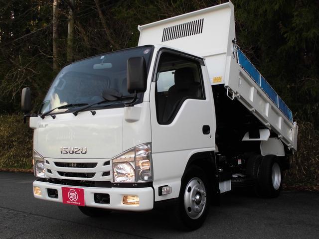 いすゞ 強化フルフラットローダンプ 3トン積4No AT車 ナビTV