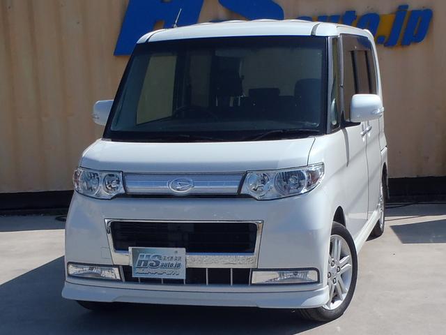 ダイハツ カスタムVセレクションターボ 4WD 左パワースライドドア ナビ ワンセグTV Bluetooth