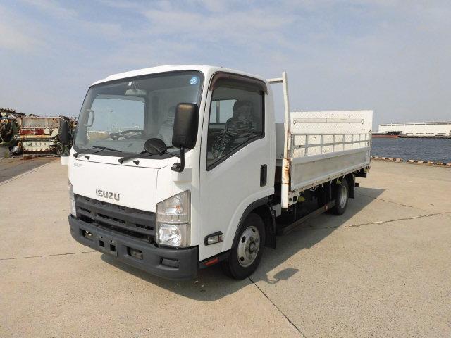 いすゞ エルフトラック 高床 新明和マルチゲート1000kg