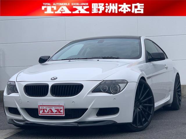 BMW 650i VOSSEN22インチAW・F.Rバンパー・トランクスポイラー・4本出しマフラー・純正HDDナビ・黒革シート・シートヒーター・ムーンルーフ・ETC・クルコン・HID・クリアランスソナ・プッシュスタート
