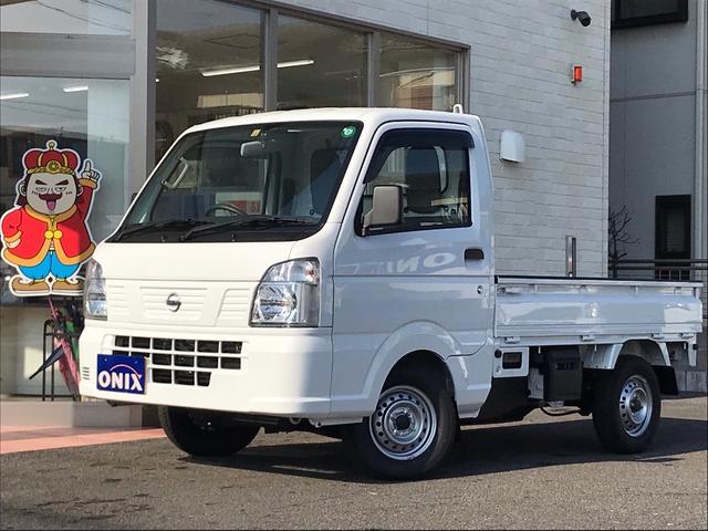 日産 DX 4WD AT車 届出済み未使用車 エアコン パワステ AMFMラジオ 3方開