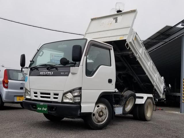 いすゞ エルフトラック 三転強化ダンプ 低PM認定 ヒルスタートアシスト