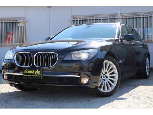 BMW 740Li ブラックレザー サンルーフ HDDナビ ワンセグ バックカメラ Pセンサー
