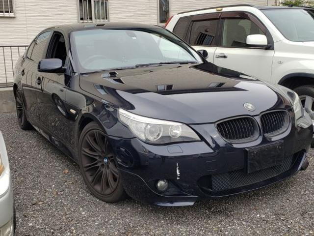 BMW 530i 黒本革シート 純正HDDナビ 社外18AW