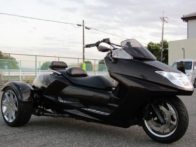 日本その他  YAMAHA マグザムトライク カスタムミラー 社外デュアルマフラー アルミステップボード 側車付きオートバイ登録公認