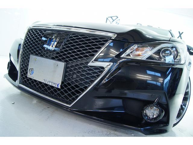 トヨタ アスリートS黒革 全国1年保証付 新品19アルミ 新品車高調