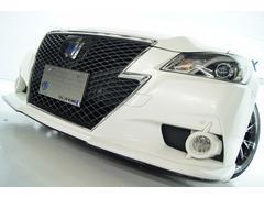 クラウンハイブリッドアスリートS VACANCESエアロ 本革 新品アルミ車高調