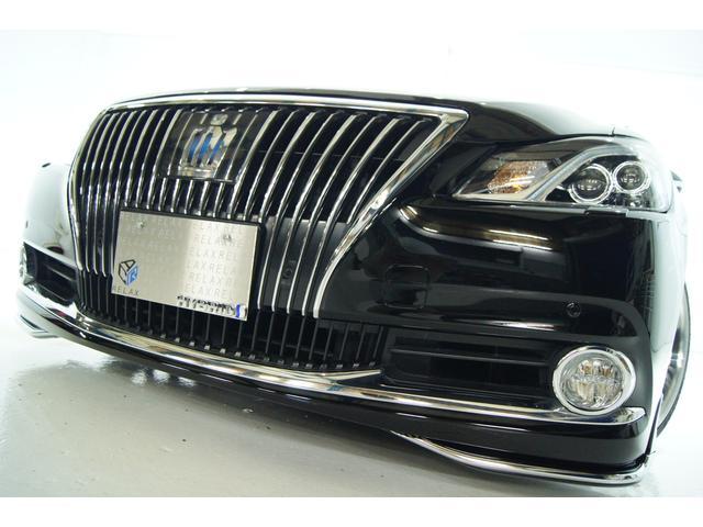 トヨタ クラウンマジェスタ Fバージョン 黒革 新品モデリスタ 新品車高調 新品アルミ
