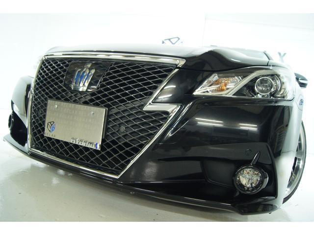 トヨタ クラウンハイブリッド アスリートS 黒本革 新品19ホイール 新品タイヤ 新品車高調 レーダークルーズ クリアランスソナー プレシャスブラック
