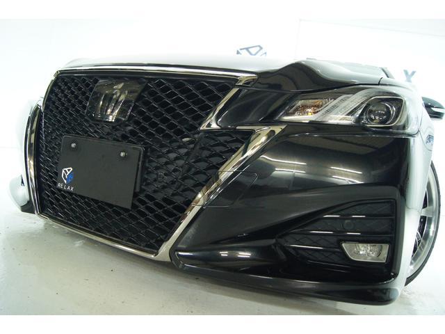 トヨタ クラウン アスリートS-T 後期 新品19ホイール 新品タイヤ 新品車高調 LEDヘッドライト プレシャスブラックパール