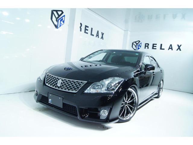 トヨタ クラウン アスリート スペシャルナビパッケージ 新品19ホイール 新品タイヤ 新品フルタップ車高調 Bluetooth対応マルチナビ パワーシート ETC