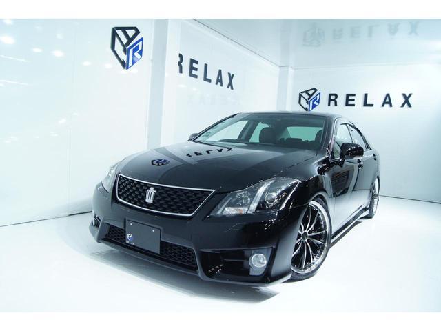 トヨタ クラウン 2.5アスリート アニバーサリーエディション 黒本革 新品19ホイール 新品タイヤ 新品車高調