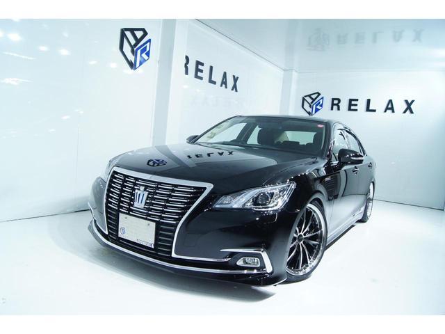 トヨタ クラウンハイブリッド ロイヤル 新品19ホイール 新品タイヤ 新品車高調 オートクルーズ ETC Bluetooth対応ナビ シートヒーター ハンドルヒーター