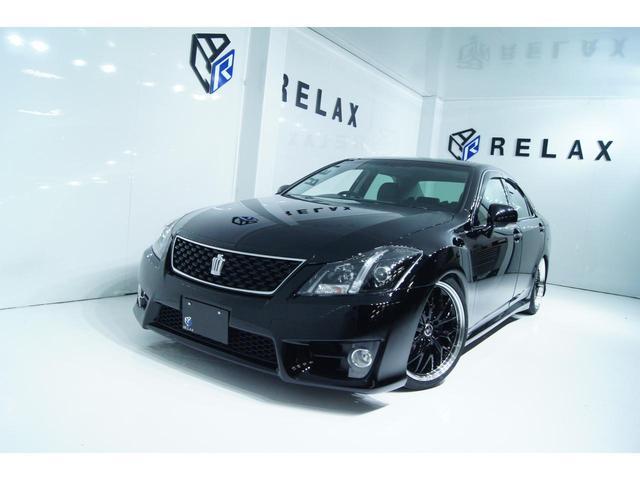 トヨタ クラウン 2.5アスリート アニバーサリーエディション 黒本革 新品19ホイール 新品タイヤ 新品車高調 ETC Bluetooth対応マルチナビ