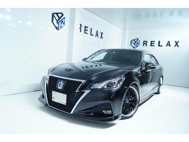 トヨタ クラウンハイブリッド アスリートS 新品バカンスエアロ 新品19ホイール 新品タイヤ 新品車高調 ETC Bluetooth対応ナビ