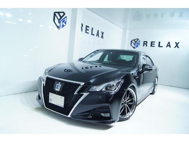 トヨタ クラウンハイブリッド アスリートS J-フロンティア 特別仕様車 新品ホイール 新品タイヤ 新品車高調 アラウンドビューモニター ETC ハーフレザー