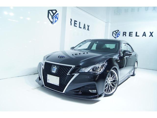 トヨタ クラウンハイブリッド アスリートS 新品バカンスエアロ 新品19ホイール 新品タイヤ 新品車高調 純正マルチナビ Bluetooth ETC