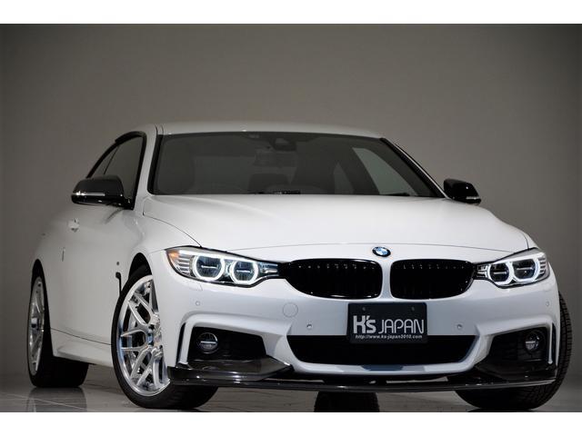 BMW 428iクーペ Mスポーツ OP合計175万 ヘッドアップディスプレイ ハーマンカードンサラウンド スーパースプリントマフラー TWS19AW 3Dデザインカーボンリヤディフューザー Mperformanceパーツ