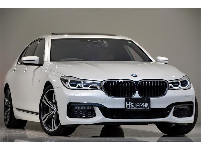 BMW 740d xDrive Mスポーツ OP合計11万 1オーナー車 BMWレーザーライト サンルーフ TVキャンセラー ミネラルホワイト フロントベンチレーションシート&シートヒーター ヘッドアップディスプレイ