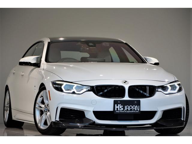 BMW 420iグランクーペ Mスポーツ Mperformanceパーツ ローダウンサス 後期テール M4純正ミラー レムスマフラー ハーマンカードン 社外ヘッドライト 3Ddesignカーボンリヤディフューザー