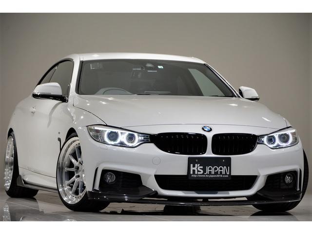 BMW 420iクーペ Mスポーツ ワンオフマフラー Mperformanceエアロ BCフォージドAW LEDヘッドライト 車高調 レーダー探知機 カーボンサイドリップ 3Ddesignリアディフューザー