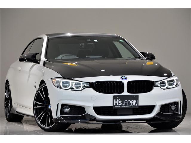BMW 420iクーペ Mスポーツ 1オーナー車 SEIBONカーボンボンネット 3Dデザインマフラー GruppeMラムエアーシステム 3Dデザイン3連メーター