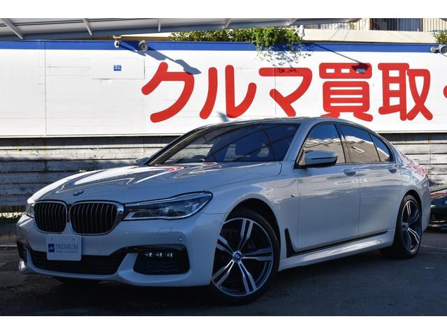 BMW 740i Mスポーツ ユーザー様直接買取車両 OP20インチアルミ ブラウンレザーシート エアーシート シートヒーター サンルーフ 純正ナビフルセグ サラウンドビューカメラ ハーマンカードン パワーバックドア LEDヘッド